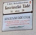 Kosciuszkó Tádé emléktáblája.JPG