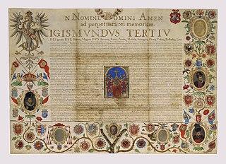 Akt nobilitacji Jana Januszowskiego (1550-1613), wydawcy i kierownika Oficyny Łazarzowej w Krakowie, nadany przez króla Zygmunta III Wazę