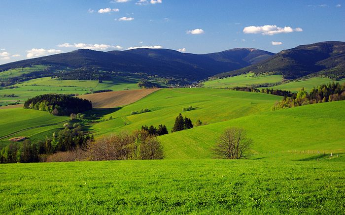 Kralický Sněžník mountain in the Czech Republic
