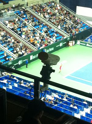 Hawk-Eye - Camera system Hawk-Eye at the Kremlin Cup tennis tournament on 20 October 2012, Moscow