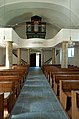 Krems Eisentratten evangelische Kirche Orgel Empore 26082007 04.jpg