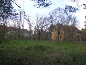 Battle of Halbe - Barracks ruins in Kummersdorf Gut in Brandenburg