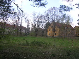 Battle of Halbe - Barracks ruins in Kummersdorf Gut in Brandenburg