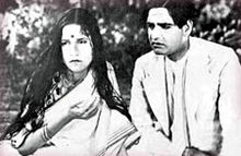 Kundan Lal Saigal and Jamuna in Devdas (1936).jpg