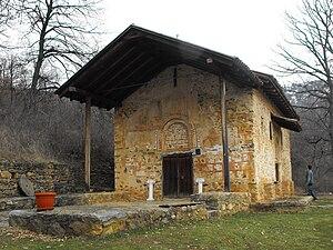 Church of St. George, Kurbinovo - Front view of the church.