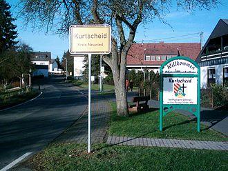 Kurtscheid - Entry of the village