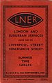 LNER suburban timetable cover in Gill Sans, 1939 (3866730671).jpg