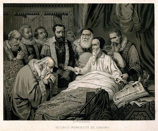 """La revolución religiosa, 1880 """"Últimos momentos de Calvino"""". (4133283856)"""