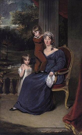 Eliab Harvey - Lady Louisa Harvey with two of her children (Thomas Lawrence)