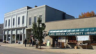 Lake Odessa, Michigan - Main Street in October 2011