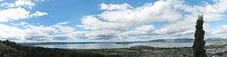 Lake Rotorua - Image: Lake Rotorua panorama