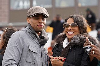 Michael Ealy - Ealy with Lala Anthony in 2012.