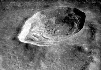 Lalande (crater) - Oblique view of Lalande from Apollo 16, facing north