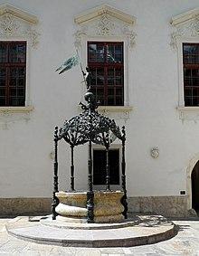 il pozzo del Landhaus di Graz, 1590.