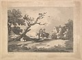 Landscape with Figures on Horseback, Another Resting Under a Gnarled Tree, and a Cottage at Right Nestled in Trees MET DP823304.jpg