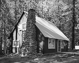 National Register of Historic Places listings in Plumas County, California - Image: Lassen Volcanic National Park, Warner Valley Ranger Residence, Mineral vicinity, Tehama, (Plumas County, California)