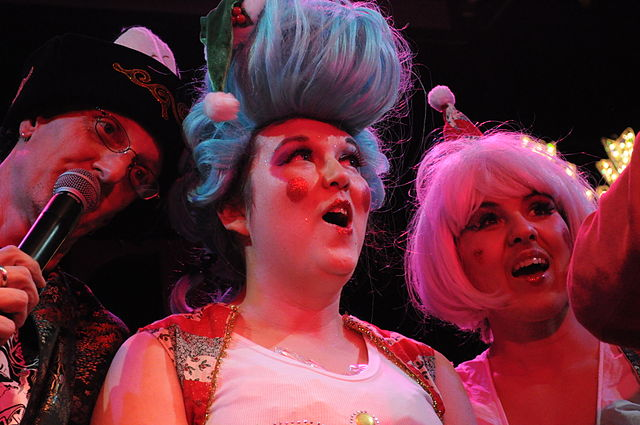 "Juliana Brandon (center), with whom I am now collaborating, shown here performing with Rob Morgan of The Squirrels and her fellow ""Operadisiac"" Marchette Dubois, Seattle, 2009"