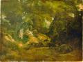 Le Cerf dans la forêt by Courbet - château de Flers.png