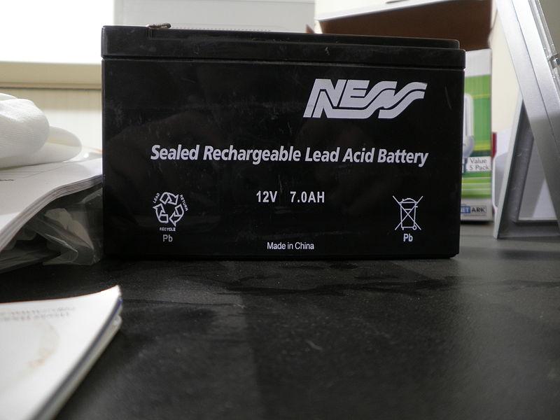 File:Lead Acid Rechargeable Battery.JPG