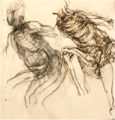 Leaning figures in ink and charcoal, drawing by Christopher Willard.png