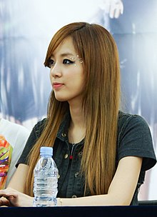 Lee Jooyeon at Yeongdeungpo Times Square Hottracks fan event.jpg