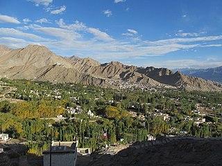 Town in Ladakh, India