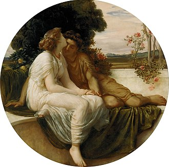Poetry of Catullus - Acme and Septimius, painting by Frederic Leighton