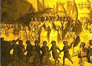 Leo I, King of Armenia - Triumphant entry of Leo the Magnificent into Antioch. Juliano Zasso, 1885