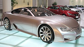 Lexus LFA - The LF-A concept on display