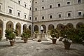 Library's yard, Monte Cassino, Province of Frosinone, Italy - panoramio.jpg