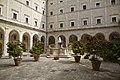 Library's yard, Monte Cassino, Province of Frosinone, Italy - panoramio.jpg