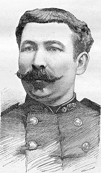 Battle of Yu Oc - Lieutenant Goeury of the French Foreign Legion, wounded at Yu Oc on 19 November 1884