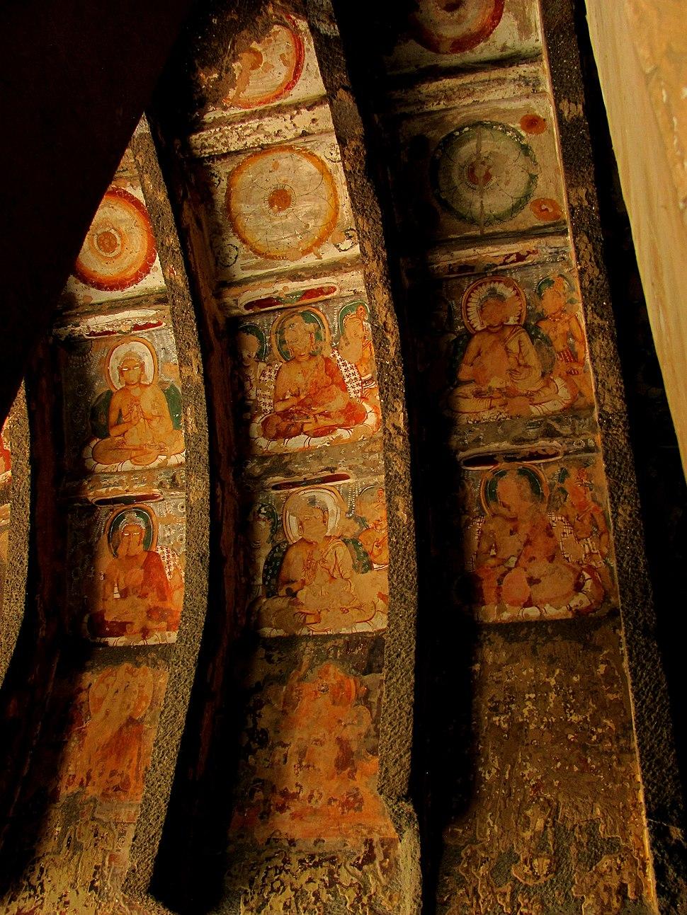 Life circle of Lord Buddha - A marvel of painting inside Ajanta Cave