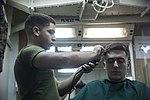 Life on the ship, Barber Shop 160308-M-CX588-062.jpg