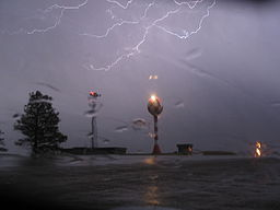 Lightning over Billings Airport April 2007