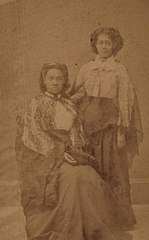 Liliuokalani and Likelike, photograph by Menzies Dickson, Mission Houses Museum Archives.jpg