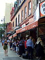 Lineup outside of Schwartz's in Montreal.JPG