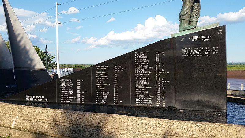 File:List of Moncton mayors on Joseph Salter monument.jpg