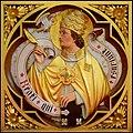 Ljouwert, Sint-Bonifatiustsjerke, kommunybank (4) Paus Gregoarius VII.jpg