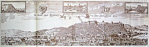 "Ljubljana - ""Laybach"" (Ljubljana) in Johann Weikhard von Valvasor's work The Glory of the Duchy of Carniola of 1689"