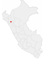 Location of the city of Cajamarca in Peru.png