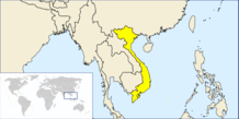 Location of Vietnam in the world