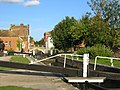 Lock on the Kennet and Avon Canal in Central Newbury Berkshire.JPG