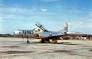 Lockheed EF-94C 50-963 Photo-Reconnaissance Starfire on ramp