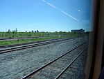 Looking out the left window on a trip from Union to Pearson, 2015 06 06 A (419) (18644597511).jpg
