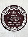 Lord Palmerston 1784-1865 Statesman Lived Here.jpg