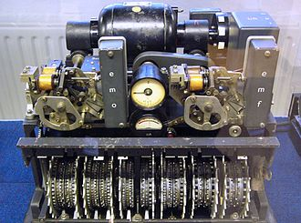 W. T. Tutte - The Lorenz SZ42 machine with its covers removed. Bletchley Park museum