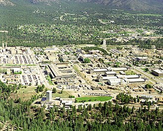 National Register of Historic Places listings in Los Alamos County, New Mexico - Image: Los Alamos aerial view