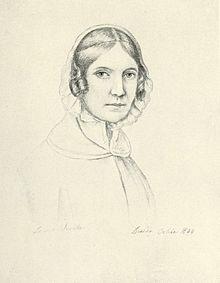 Louise Seidler: Selbstbildnis, Bleistiftzeichnung, 1844 (Quelle: Wikimedia)