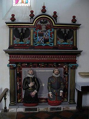 Baron Lovelace - Lovelace Memorial in St Mary's church, Hurley